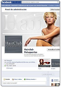 HairCLub Peluquerías en Facebook
