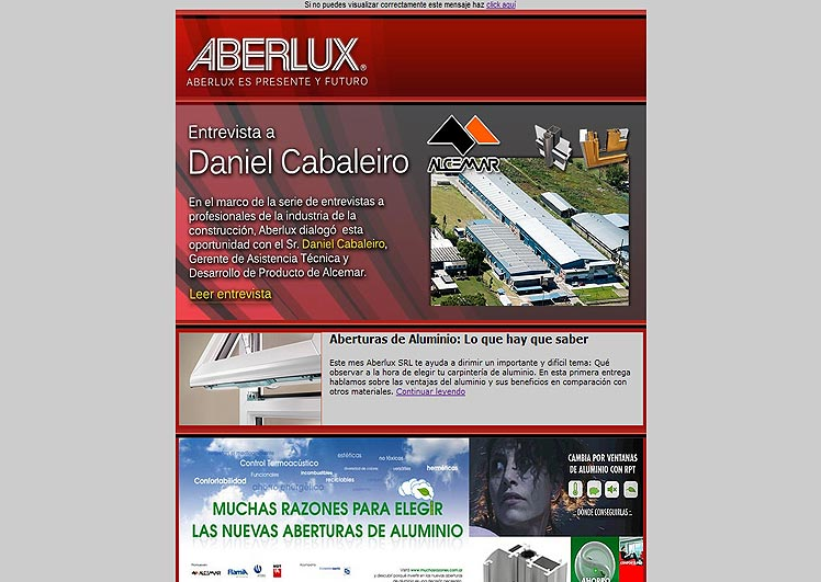 Newsletter de Aberlux