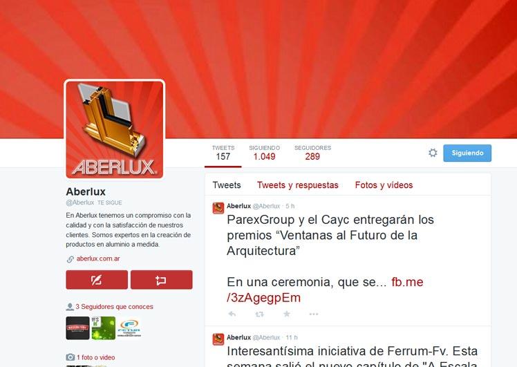 Aberlux SRL en Twitter