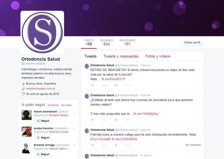 Ortodoncia Salud en Twitter