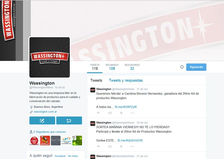 Wassington en Twitter